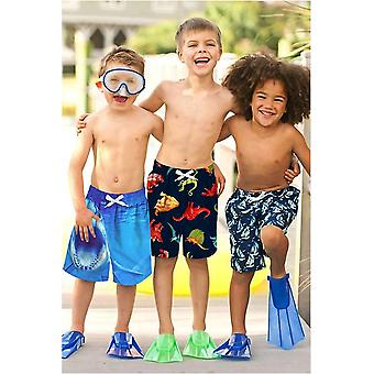 ALOOCA Boys Bathing Suits Quick Dry Shark Swim Trunks Beach Board Shorts Swim...