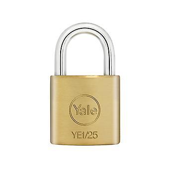 Yale Lukot YE1 Messinki riippulukko 25mm YALYE125