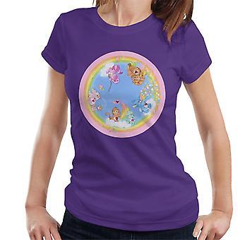 Care Bears Speels Hart Monkey Rainbow Cloud Boat Women's T-Shirt