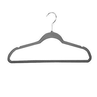 High-end fluwelen hangers slanke hangers met trekstangen om ruimte te besparen antislip garderobe hangers
