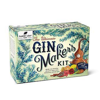Sandy frunze de fermă final gin makerăs kit - face zece sticle mari de gin proprii - arome, inclusiv