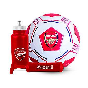 Arsenal FC Football Soccer Signature Ball Bottle Pump Gift Set 500ml