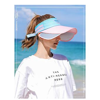 New Summer Outdoor Sun Hat Stretchable Empty Top Sun Visor Hats