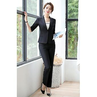 Women Suit Summer, Fashion Temperament, Formal Half Sleeve Blazer And Skirt