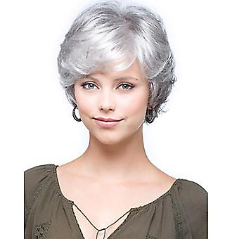 Women's Wig Women's Short Side Bangs Chemical Fiber Short Hair Head Cover