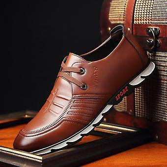 Men's Dress Spring Leisure Fashion Lace-up Leather Shoes