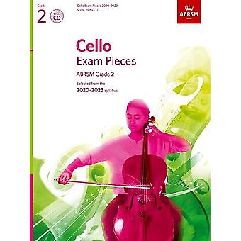 Cello-Prüfungsstücke 2020-2023, Abrsm Grade 2, Partitur, Part & Cd