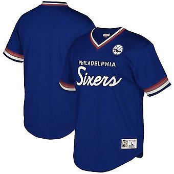 Mitchell & Ness Special Script Mesh V Neck T-Shirt Philadelphia Sixers P76ROYA