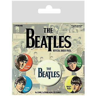 The Beatles Band Badge Set (Pack of 5)