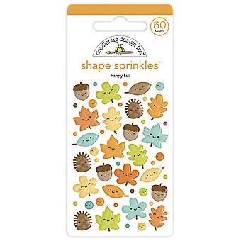 Doodlebug Design Happy Fall Shape Sprinkles