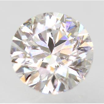 Sertifioitu 0,47 karat D VVS1 pyöreä loistava parannettu luonnollinen löysä timantti 4,89m