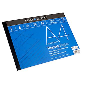 Daler Rowney Tracing Paper Pad 50 Sheets 60gsm A4