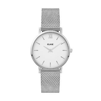 Cluse Ladies Minuit Silver Circle Quartz Fashion Watch CW0101203002
