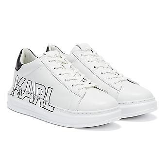 Karl Lagerfeld Ikonic Kapri Outline Logo Womens White Trainers
