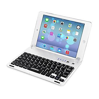 Arteck Ultra-Thin Apple iPad Mini Bluetooth Keyboard Folio Case Cover with Built-in Stand Groove for Apple iPad Mini 3/2 / 1 / iPad Mini with Retina Display with 130 Degree Swivel Rotating