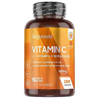 Vitamin C With Rosehip And Bioflavonoids -180 tablets - 1000mg - All-round immunity - Perfect for boosting the body's natural defences