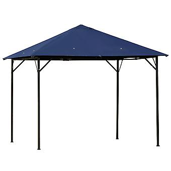 Outsunny 3 x 3(m) Gazebo Canopy Party Tent Garden Pavilion Patio Shelter Outdoor with Vent, Metal Frame, Dark Blue
