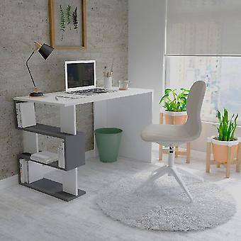 Desk Patara White Color, Anthracite in Melamine Chipboard, L120xP60xA75 cm