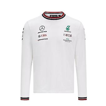 Mercedes AMG Petronas Mercedes Amg Petronas Team Langermet Team T-skjorte 2021 Hvit