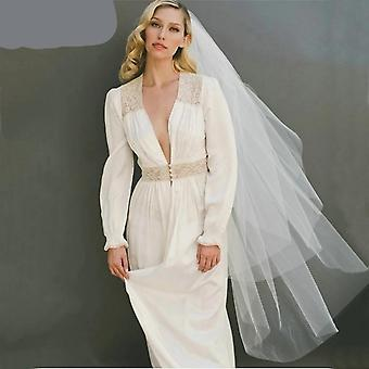 Semplice velo da sposa bianco