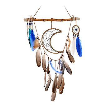 Hängande dekoration Dekodonia Moon Feathers (37 x 2 x 59 cm)