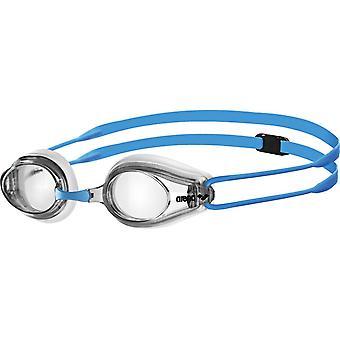 Arena Tracks Junior simma goggle-klar lins-Clear/blå ram