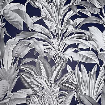 Drivhus planter Tapet Navy Arthouse 909501