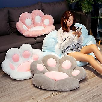 Paw Pillow Animal Seat Cushion Stuffed Small Plush Sofa Indoor Floor Home Chair Decor Winter Children Gift