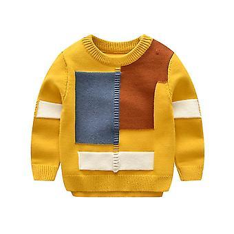 ベビーTシャツセーター幾何学的な三角形の長方形マッチスタイルリトルアウトフィット
