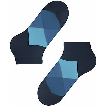 Burlington Clyde Sneaker Socks - Marine/Light Blue