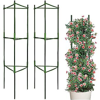 LIBRNTY 2 Pack Garden Plant Support,Tomato Growing Cage,Stainless Steel Garden Plant Tomato Cage