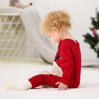 Детские Рождественские Ромперы, олени трикотажные Инфантил Jumpsuits малыш