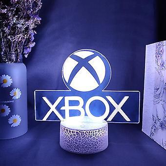 قاد جهاز إكس بوكس لعبة رمز 3d الوهم مصباح الألعاب غرفة سطح المكتب إعداد أضواء استشعار لون تغيير ديكور غرفة الخلفية الكمبيوتر