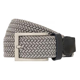 bugatti Gürtel Herrengürtel Textilbandgürtel Stretchgürtel Grau 8513