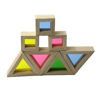Ξύλινα δομικά στοιχεία μωρό Montessori παιχνίδι πρόωρο εκπαιδευτικό παιχνίδι (1 σύνολο)