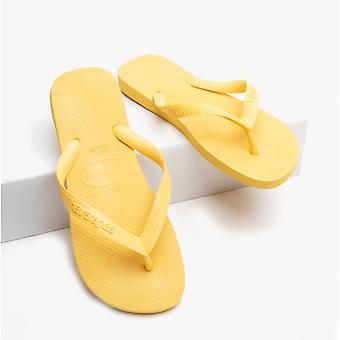 Havaianas Hav Top Unisex Flip Flops Gold Yellow