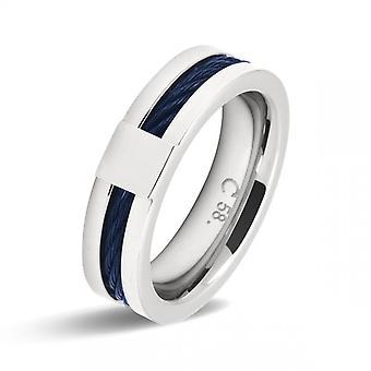 Rochet Ring HA237700 - stål / kabel CABESTAN Bicolore PVD blå 0/6cm menn