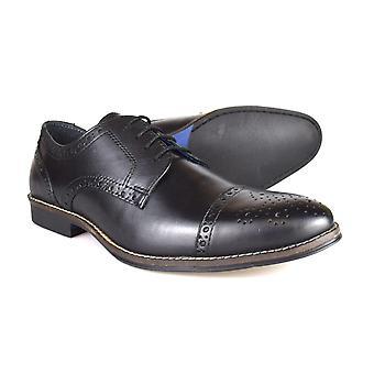 Byrokratiaa Claydon miesten musta nahka muodollista Lace-ajan kenkiä
