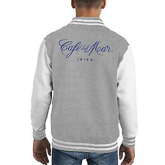 Cafe del Mar Classic Blue Logo Kid's Varsity Jacket
