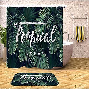 Rideau tropical de douche de rêve