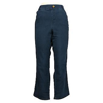 IMAN Global Chic Women's Jeans Petites Illusion Denim Blue 734928L0X