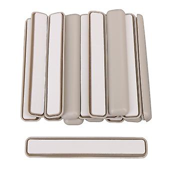 16 x Gray Furniture Rectangle Moving Slider for Sofa Cabinet 99x17mm