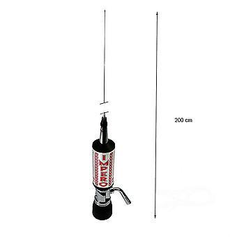 CB LEMM TURBO IMPERO Antenne, Silber, Länge 200 cm, Verstärkung 7dB, 26,5-28Mhz, 2500W, RG58 4m Kabel, hergestellt in Italien
