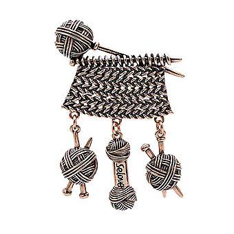 Kreativ design, veving ball av garn brosje, vintage smykker, høst vinter
