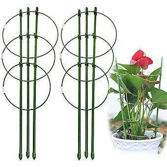 FengChun Fodable Small 45cm (17,7 Zoll) Gartenpflanzensttze mit 3 verstellbaren verstellbaren Ringen fr klein