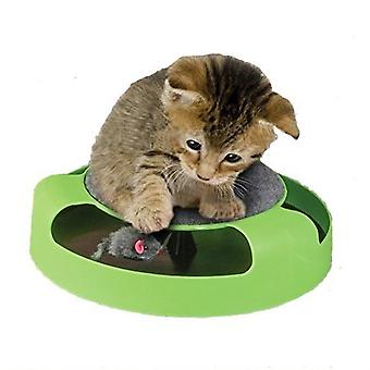 Funny Motion Pet Kitten Cat Toy Catch The Mouse Interactive Cat Training Play Activity Game System Scratchpad Pet Gift