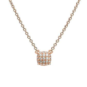 Eye Candy ECJ-NL0085, Sterling 925 silver women's necklace, with rose gold plating, round pendant with 21 Ref zircons. 4045425027870