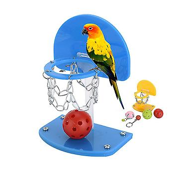 New Parrot Puzzle Training Intellectual Toy Mini Basket Bird Hoop ES2194