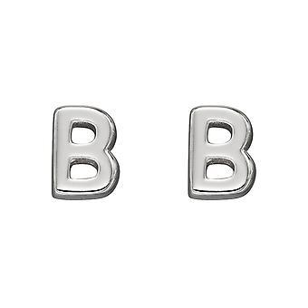Начало Инициал B Стерлинговое серебро Серьги E6019