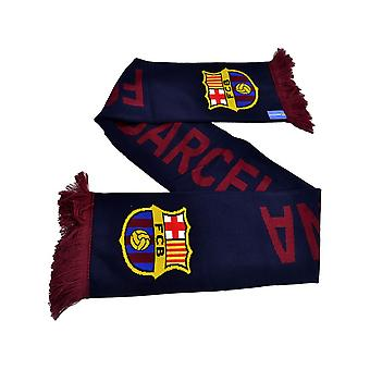 FC Barcelona High Def Jacquard Maglia Marina Sciarpa